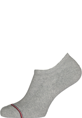 Tommy Hilfiger Iconic Sports Socks (2-pack), heren sneaker sportsokken katoen, onzichtbaar, grijs