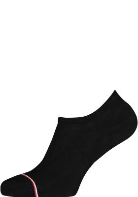 Tommy Hilfiger Iconic Sports Socks (2-pack), heren sneakersokken katoen, onzichtbaar, zwart