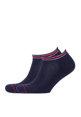 Tommy Hilfiger Iconic Sports Sneaker sokken (2-pack), blauwe sport enkelsokken