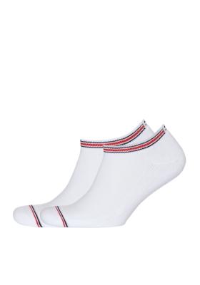Tommy Hilfiger Iconic Sports Sneaker sokken (2-pack), witte sport enkelsokken