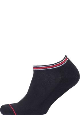Tommy Hilfiger Iconic Sports Sneaker Socks (2-pack), heren sport enkelsokken, zwart