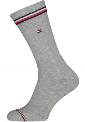 Tommy Hilfiger Iconic Sport Socks (2-pack), heren sportsokken katoen, grijs
