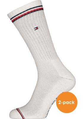 Tommy Hilfiger Iconic Sport Socks (2-pack), heren sportsokken katoen, wit