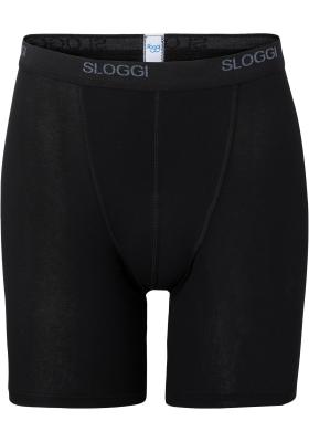 Sloggi Men Basic Long, heren boxer (1-pack), zwart