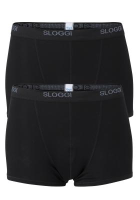 Sloggi Men Basic Short heren boxers (2-pack), zwart