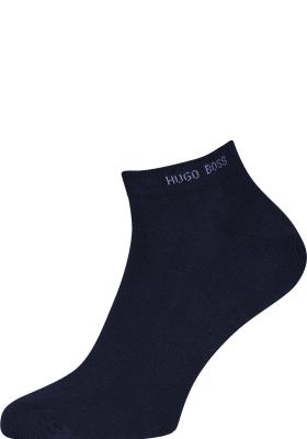 HUGO BOSS enkelsokken (2-pack), heren sneaker sokken katoen, donkerblauw
