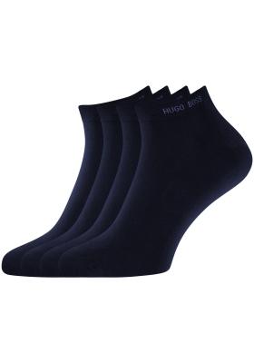 Hugo Boss, 2-pack Sneaker, herensokken, blauwe enkelsokken