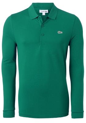 Lacoste Sport polo lange mouwen Regular Fit stretch, groen