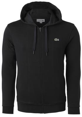 Lacoste heren hoodie sweatvest met rits, zwart