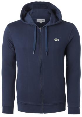Lacoste heren hoodie sweatsvest met rits, donkerblauw