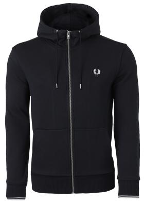 Fred Perry hoodie sweatvest, zwart