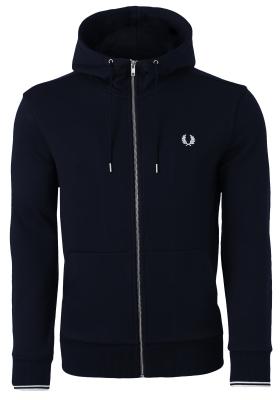 Fred Perry hoodie sweatvest, blauw