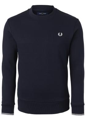 Fred Perry O-hals sweatshirt, blauw