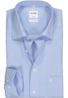 OLYMP Luxor comfort fit overhemd, lichtblauw gestreept