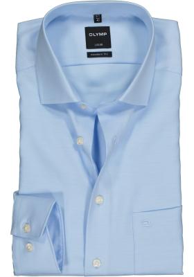 OLYMP Luxor modern fit overhemd, lichtblauw twill