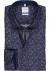 OLYMP Luxor Comfort Fit overhemd, blauw met donkerrood dessin (contrast)