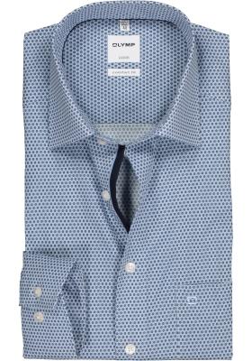 OLYMP Luxor Comfort Fit overhemd, lichtblauw dessin (contrast)
