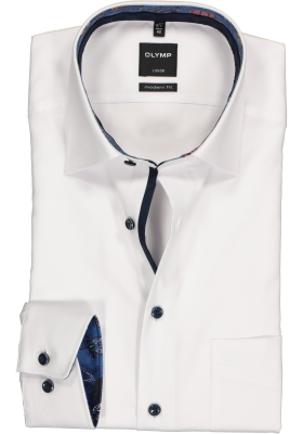 OLYMP Luxor Modern Fit overhemd, lichtblauw  (contrast)