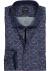 OLYMP Luxor Modern Fit overhemd, blauw met donkerrood dessin (contrast)