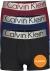 Calvin Klein Trunks (3-pack), zwart, blauw, donkerrood