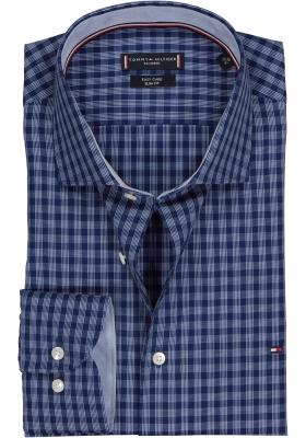 Tommy Hilfiger overhemd Slim Fit, blauw met wit geruit (contrast)