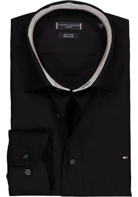 Tommy Hilfiger overhemd Regular Fit, zwart twill (contrast)