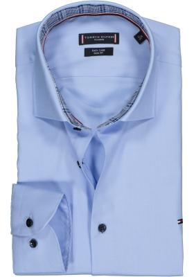 Tommy Hilfiger overhemd Slim Fit, lichtblauw twill (contrast)