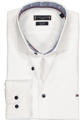 Tommy Hilfiger overhemd Slim Fit, wit twill (contrast)