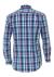 Redmond heren overhemd Regular Fit, blauw met donkerroze geruit (contrast)