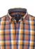 Redmond heren overhemd Regular Fit, blauw met geel geruit (contrast)