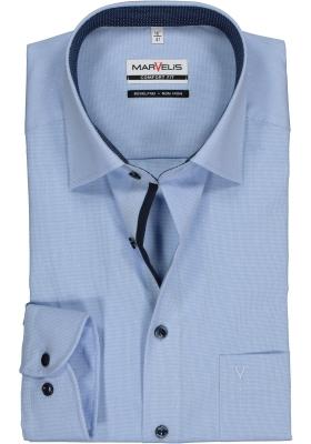 MARVELIS Comfort Fit overhemd, lichtblauw mini dessin (contrast)
