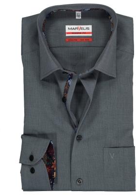 MARVELIS Modern Fit overhemd, zilvergrijs  (contrast)