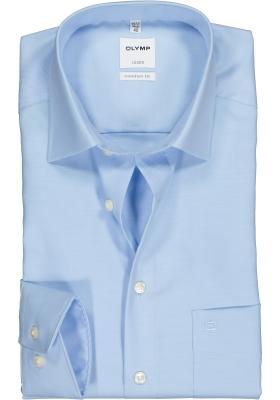 OLYMP Luxor comfort fit overhemd, lichtblauw twill