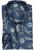 Ledub Modern Fit overhemd, donkerblauw met beige dessin (contrast)