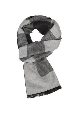 Michaelis  heren sjaal, grijs geblokt