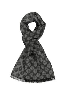 Michaelis  heren sjaal, zwart met grijs dessin