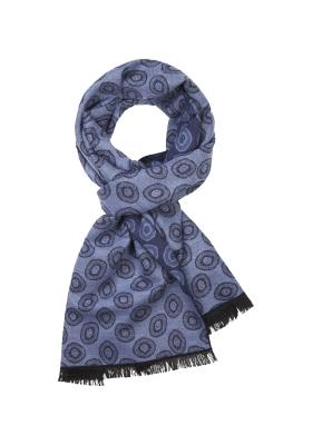 Michaelis  heren sjaal, blauw dessin