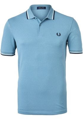 Fred Perry M3600 polo twin tipped shirt, heren polo, Smoke blue