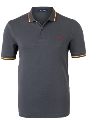 Fred Perry M3600 polo twin tipped shirt, Gunmetal