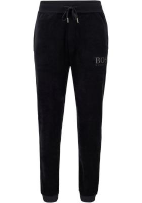 HUGO BOSS heren lounge broek (middeldik), velour pants, zwart