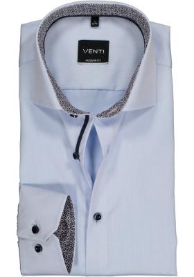 VENTI modern fit overhemd, lichtblauw twill (contrast)