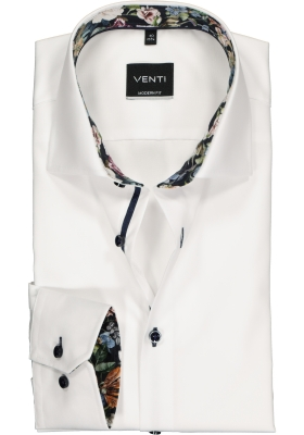 Venti Modern Fit overhemd, wit (contrast)