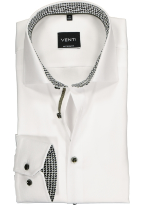 Venti Modern Fit overhemd, wit (contrast)