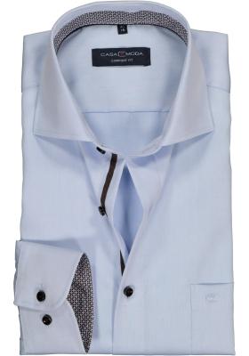 CASA MODA comfort fit overhemd, lichtblauw twill (contrast)