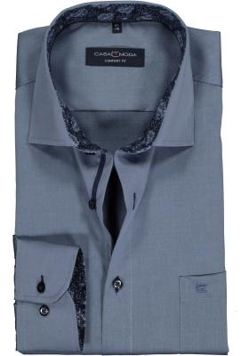 Casa Moda Comfort Fit overhemd, rookblauw (contrast)