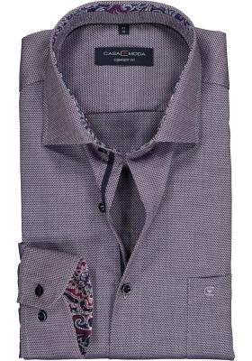 Casa Moda Comfort Fit overhemd, aubergine melange (contrast)