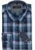 Casa Moda Sport Comfort Fit overhemd, blauw met rood geruit (contrast)
