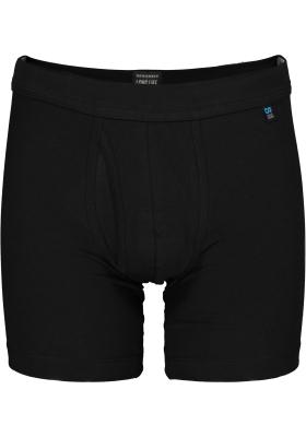 SCHIESSER Long Life Cotton shorts (1-pack), lang met gulp, zwart