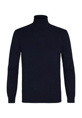 Michaelis Slim Fit Col heren trui (katoen), blauw