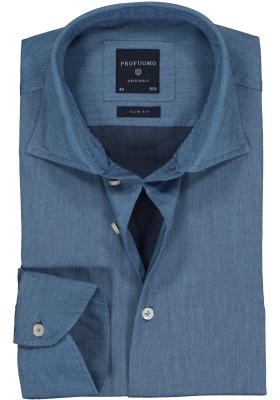 Profuomo Slim Fit  overhemd, jeans blauw twill